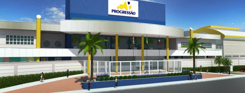 Alunos visitam as obras do novo prédio do colégio em Pindamonhangaba