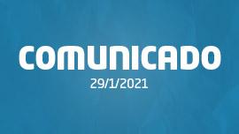 Comunicado #1   29/1/2021