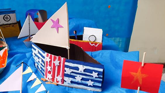 Inspirados em artesanato de Paraty (RJ) alunos dos 1ºs anos produzem exposição Mar de Cores | Unidade 2 – Taubaté