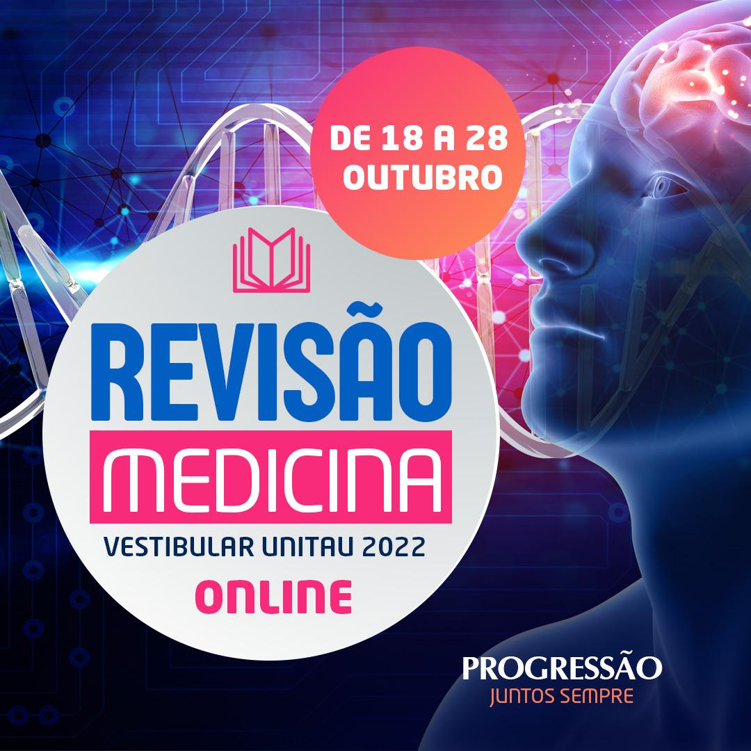 Revisão Medicina Unitau está com inscrições abertas: 30 aulas online